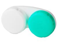 Alensa.lv - Kontaktlēcas - Kontaktlēcu konteineris - zaļā un baltā krāsā