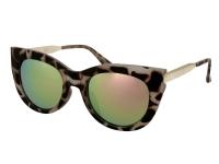 Alensa.lv - Kontaktlēcas - Saulesbrilles Alensa Cat Eye Havana Rozā Spogulis