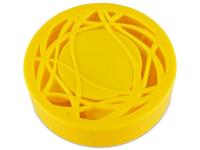 Lēcu futlāris ar spoguli- dzeltens ornaments