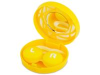 Alensa.lv - Kontaktlēcas - Lēcu futlāris ar spoguli- dzeltens ornaments