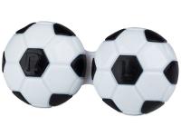Alensa.lv - Kontaktlēcas - Kontaktlēcu konteineris - Football melnā krāsā