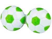 Alensa.lv - Kontaktlēcas - Kontaktlēcu konteineris - Football zaļā krāsā