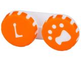 Alensa.lv - Kontaktlēcas - Lēcu konteineris- Paw oranžā krāsā