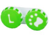 Alensa.lv - Kontaktlēcas - Lēcu konteineris- Paw zaļā krāsā