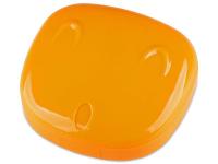 Alensa.lv - Kontaktlēcas - Lēcu futlāris ar spoguli Face- oranžs