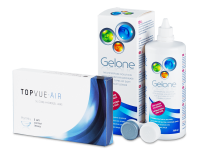 TopVue Air (6 kontaktlēcas) + Gelone Šķīdums 360 ml