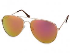 Saulesbrilles Gold Pilot - Rozā/Oranžs