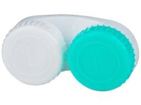 Alensa.lv - Kontaktlēcas - Lēcu konteineris zaļš un balts ar L/R apzīmējumu